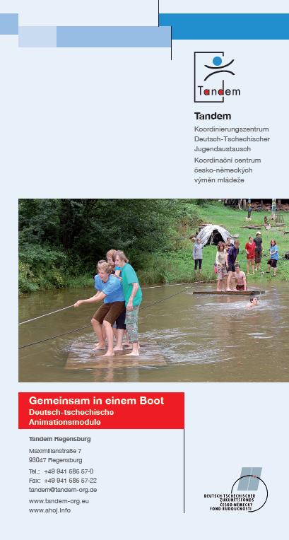 """Flyer Tandem-Projekt """"Gemeinsam in einem Boot"""""""
