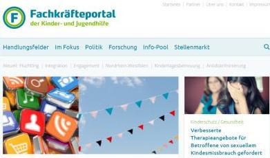 Screenshot Fachkräfteportal