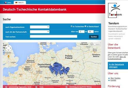 Screenshot Kontaktdatenban