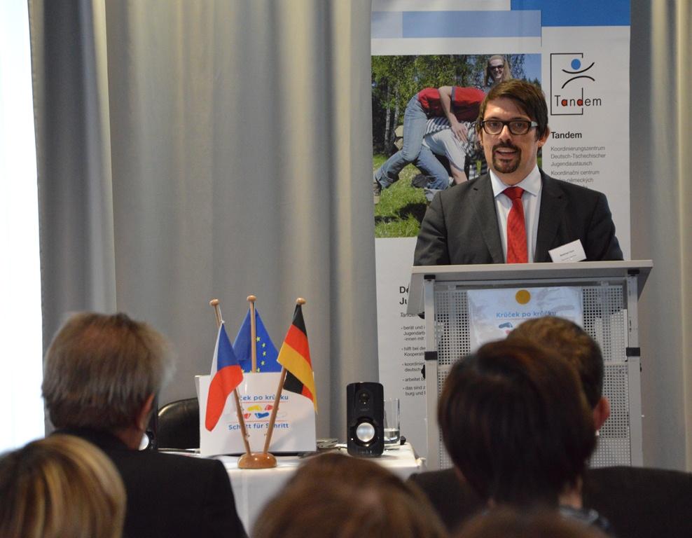 BJR-Präsident Matthias Fack sprach bei der Abschlussveranstaltung ein Grußwort.