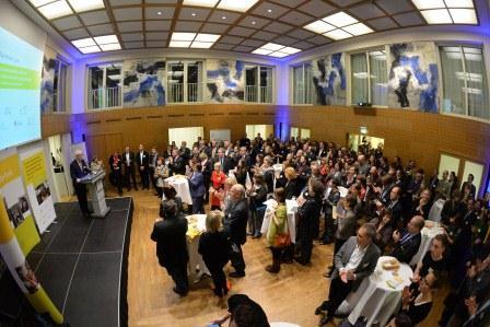 Rund 170 Gäste von Jugendverbänden und Institutionen der nationalen und internationalen Jugendarbeit kamen zum 7. Parlamentarischen Abend in die Landesvertretung Saarland. Foto: David Ausserhofer