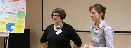 Die Seminarleiterinnen Stefanie Schütz und Michaela Veselá.