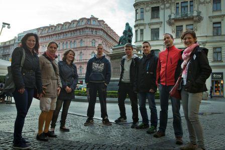 Auf geht's zur interaktiven Stadtführung durch das Prager Stadtzentrum. Foto: Yevgeniy Rozhko