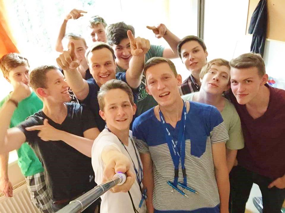 Gruppenfoto der Azubis in Blansko