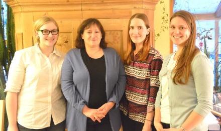 Unser Bild zeigt von links nach rechts: Kateřina Břendová, MdB Marianne Schieder, Žaneta Šindlerová, Kristýna Růžičková